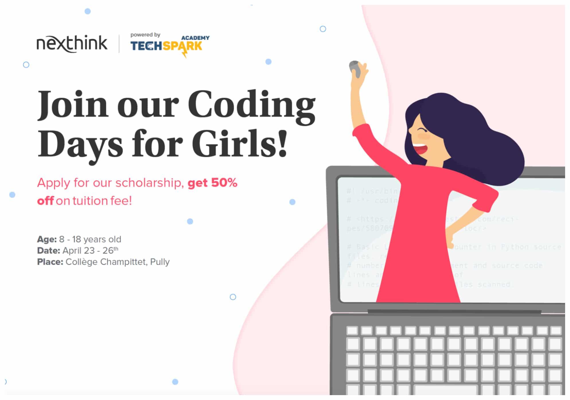 Ces Pâques, inscrivez-vous à l'atelier «Apprends à coder entre filles» avec Nexthink!