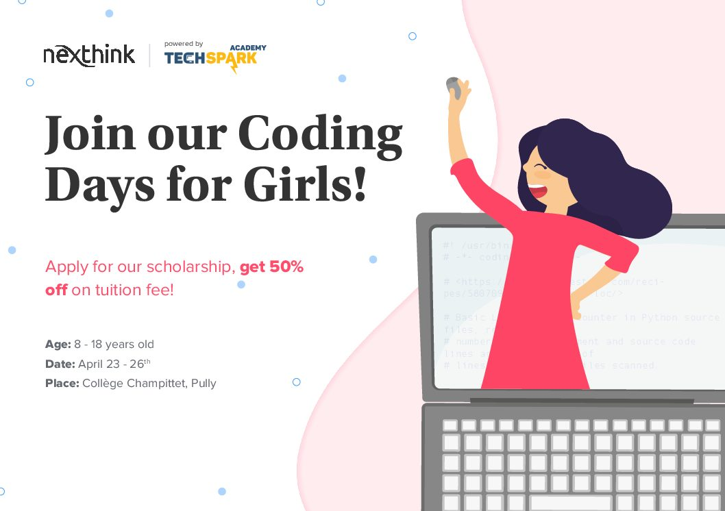 Don't miss Coding for Girls this Easter with Nexthink!