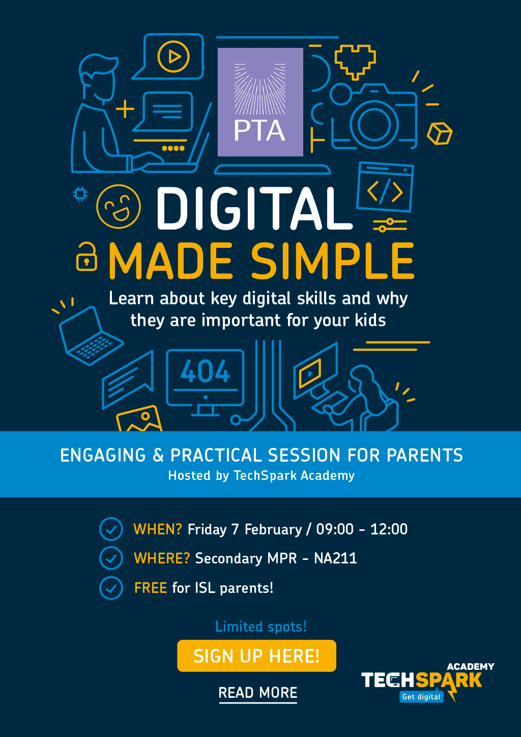 Digital Made Simple – ISL PTA Event Friday 7 February 2020