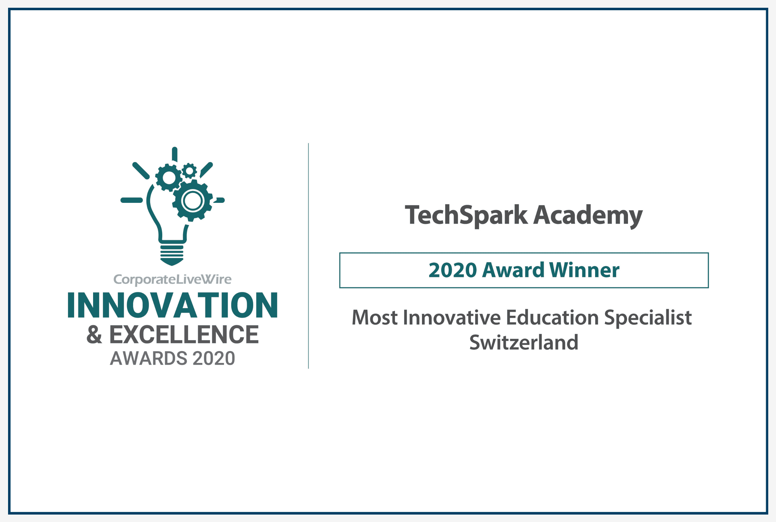 TechSpark Academy wins Most Innovative Education Specialist in Switzerland